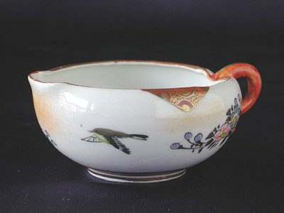Photo2: Tea set with design of bird and flowers, Kutani porcelain
