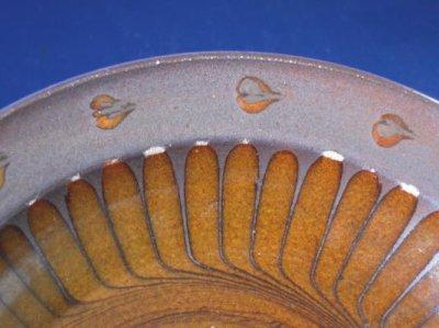Photo1: Slipware plate, Fujina kiln